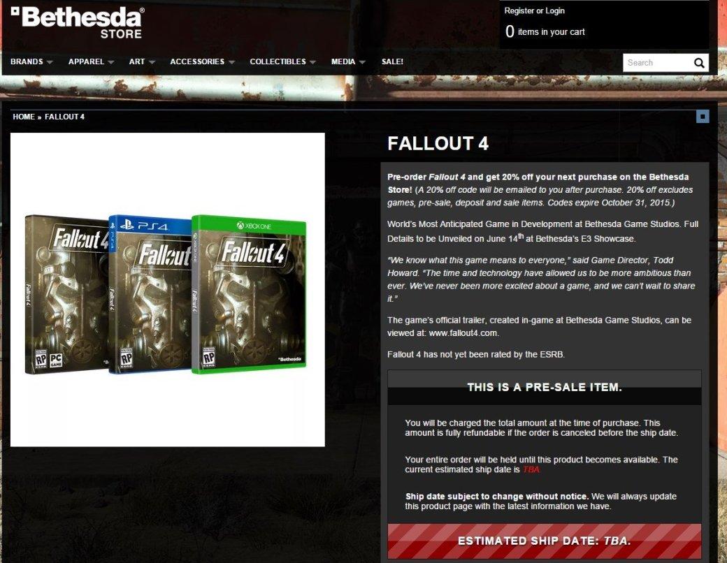 Крупные ритейлеры указывают на выход Fallout 4 в 2015 году  - Изображение 4
