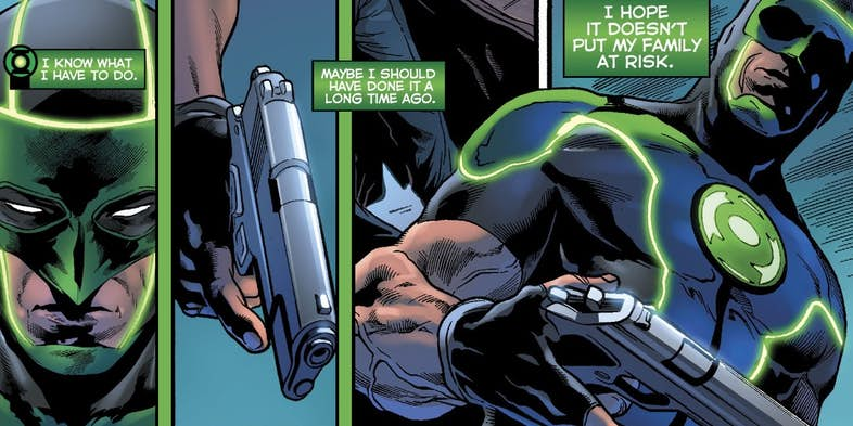 Зеленому фонарю больше не нужен пистолет, и все благодаря Бэтмену. - Изображение 7