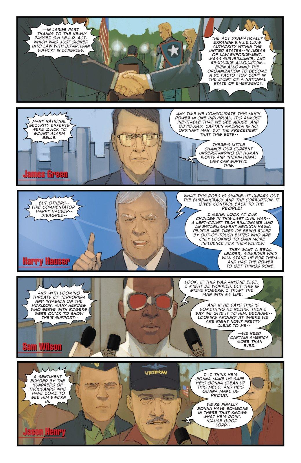 В эпилоге Civil War II Капитан Америка-агент Гидры стал главой ЩИТ - Изображение 5