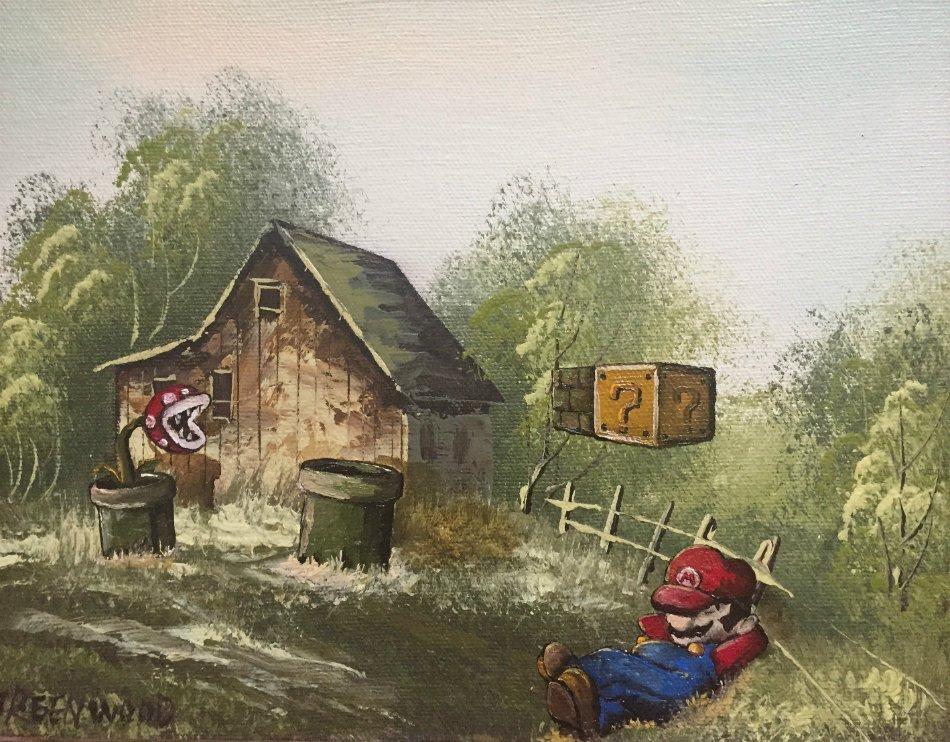 «Большой Папочка на взморье»: герои игр украсят собой любую картину - Изображение 3