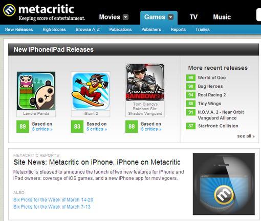 iOS и 3DS на Metacritic.com - Изображение 1