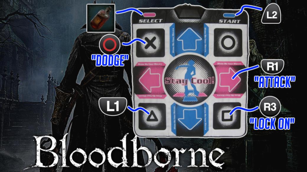 Bloodborneпроходят наковрике для симулятора танцев. Как это возможно. - Изображение 1