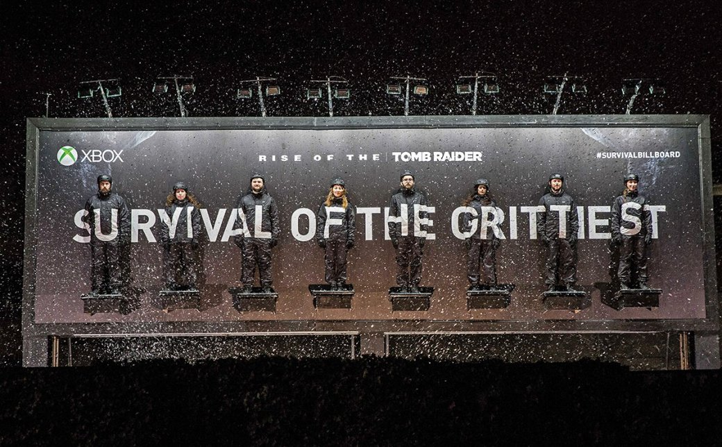 Microsoft мучает людей на сурвайвл-билборде Rise of the Tomb Raider - Изображение 1