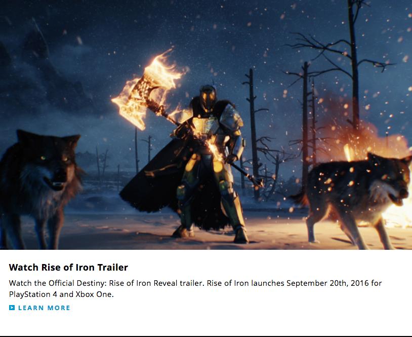 Activision нечаянно «слила» дату выхода нового аддона Destiny - Изображение 1