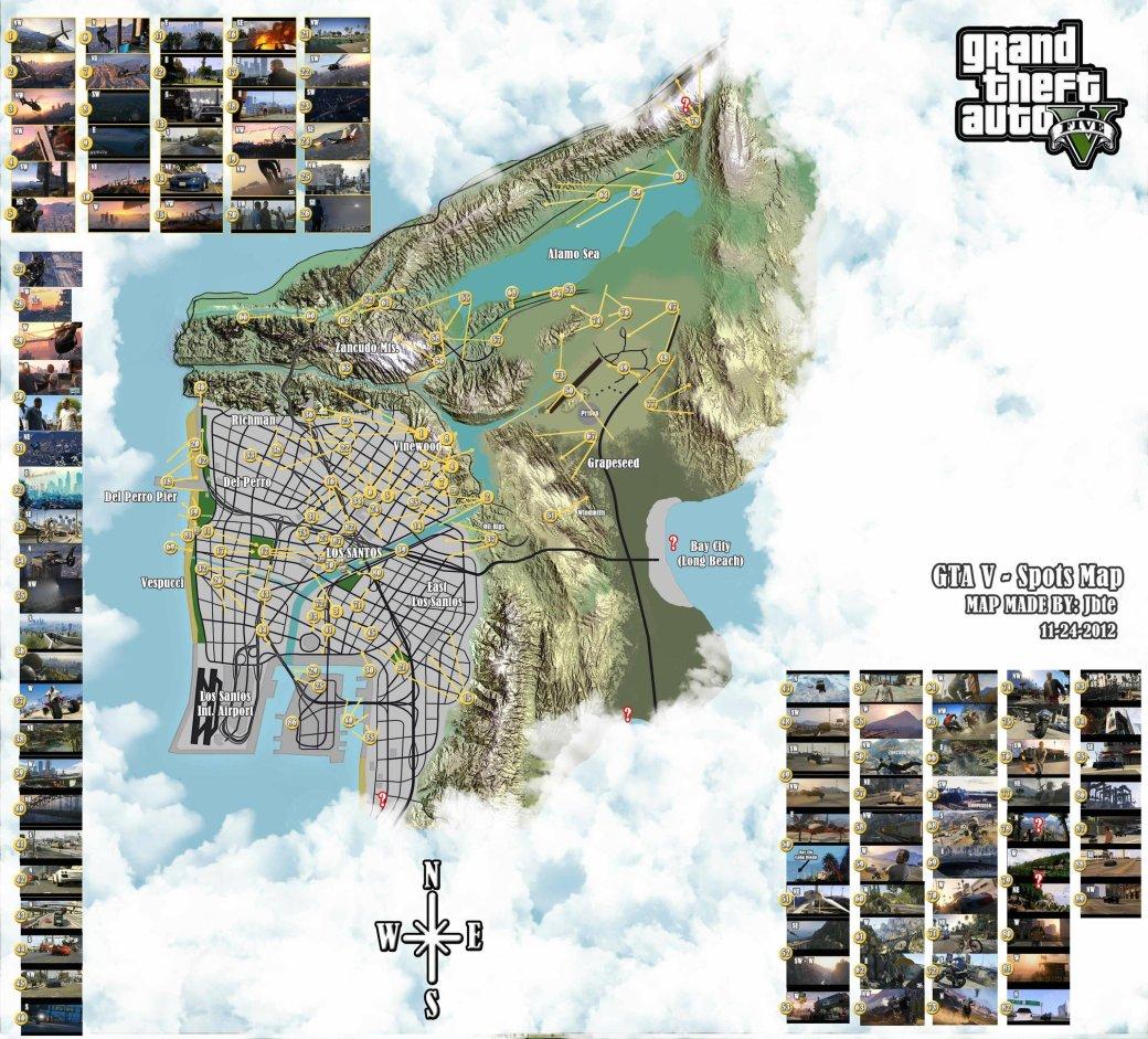 Фанатская карта GTA 5, основанная на трейлерах и скриншотах - Изображение 1