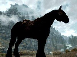 Гифка дня: тяга лошади кполету вThe Elder Scrolls 5: Skyrim