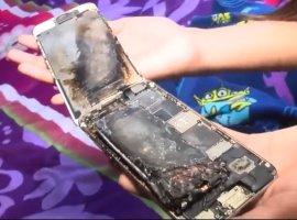 iPhone 6загорелся вруках у ребенка