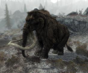 Гифка дня: «мамонт, иди кчерту отсюда» вThe Elder Scrolls 5: Skyrim