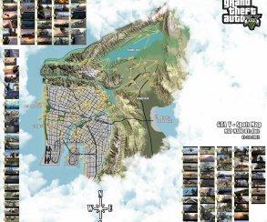 Фанатская карта GTA 5, основанная на трейлерах и скриншотах