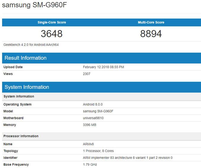 Слух: Galaxy S9 на Samsung Exynos 9810 оказался быстрее, чем на топовом Snapdragon 845. - Изображение 2