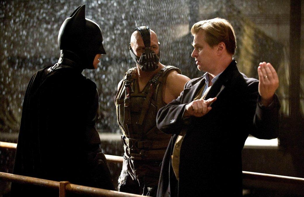 Кристофер Нолан на съемках фильма «Темный рыцарь: Возрождение легенды»