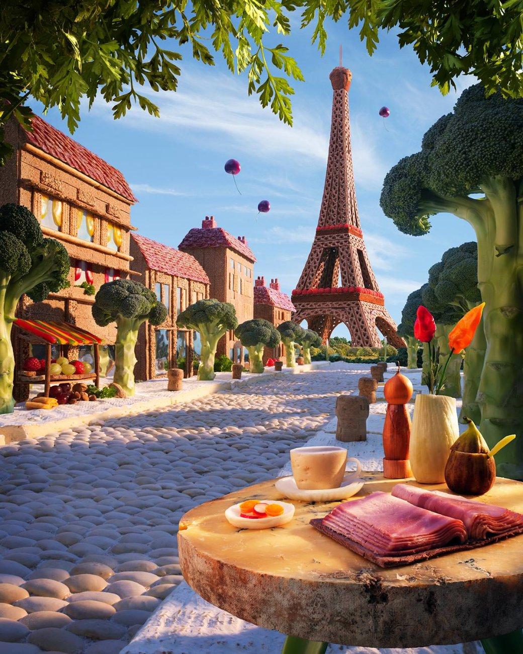 Фотограф создает сказочные пейзажи, используя только еду   Канобу - Изображение 13820