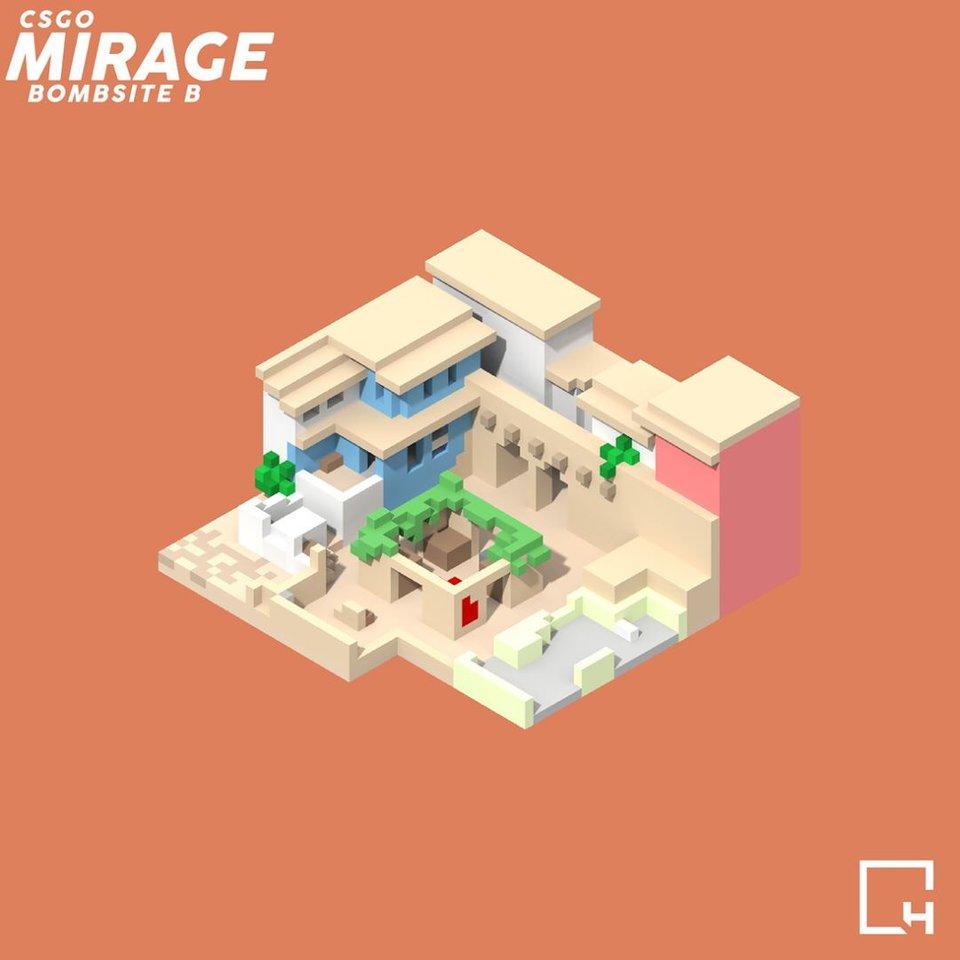 Игроки воссоздали карты из CS:GO с помощью лего и Minecraft | Канобу - Изображение 5
